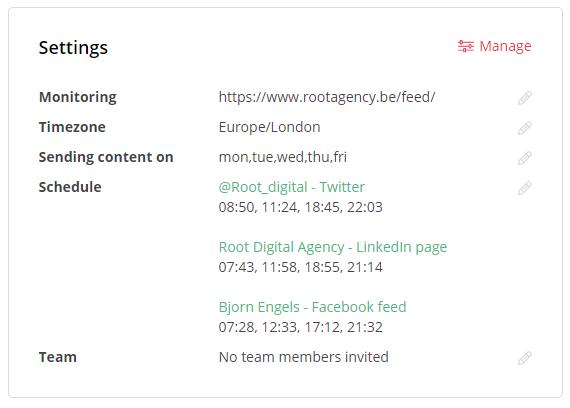 MissingLettr-features-instellingen MissingLettr recensie: Geautomatiseerde social media voor kmo's en bloggers